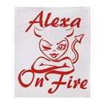Alexa On Fire Throw Blanket