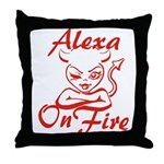 Alexa On Fire Throw Pillow