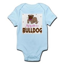 Funny Kids bulldog Infant Bodysuit