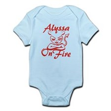 Alyssa On Fire Infant Bodysuit