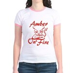 Amber On Fire Jr. Ringer T-Shirt