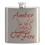 Amber On Fire Flask