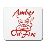 Amber On Fire Mousepad