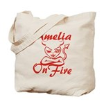 Amelia On Fire Tote Bag