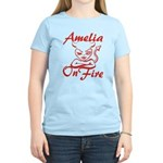 Amelia On Fire Women's Light T-Shirt