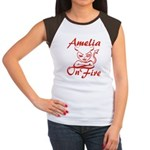 Amelia On Fire Women's Cap Sleeve T-Shirt