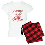 Amelia On Fire Women's Light Pajamas