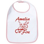 Amelia On Fire Bib