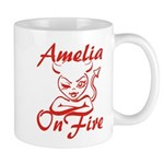 Amelia On Fire Mug