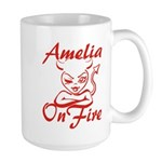 Amelia On Fire Large Mug
