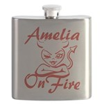 Amelia On Fire Flask