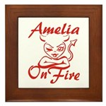 Amelia On Fire Framed Tile