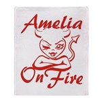 Amelia On Fire Throw Blanket