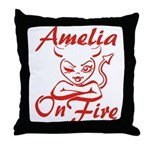 Amelia On Fire Throw Pillow