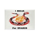 Break for Snakes Rectangle Magnet