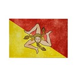 Sicily Flag Rectangle Magnet