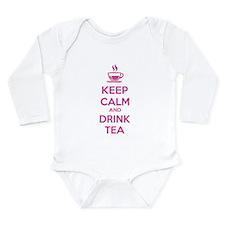 Keep calm and drink tea Long Sleeve Infant Bodysui