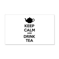 Keep calm and drink tea 22x14 Wall Peel