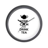 Keep calm and drink tea Wall Clock