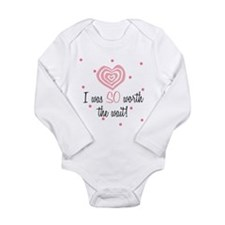 Funny Preemie Long Sleeve Infant Bodysuit