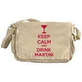Keep calm and drink martini Messenger Bag