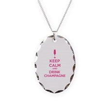 Keep calm and drink champagne Necklace