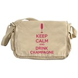 Keep calm and drink champagne Messenger Bag