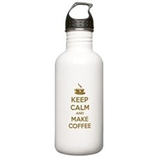 Keep calm and make coffee Water Bottle