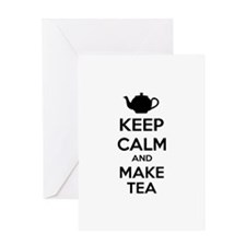Keep calm and make tea Greeting Card