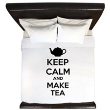 Keep calm and make tea King Duvet