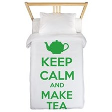 Keep calm and make tea Twin Duvet