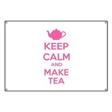 Keep calm and make tea Banner