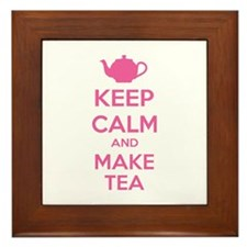 Keep calm and make tea Framed Tile