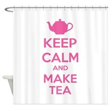 Keep calm and make tea Shower Curtain