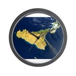 Space View Sicily Wall Clock