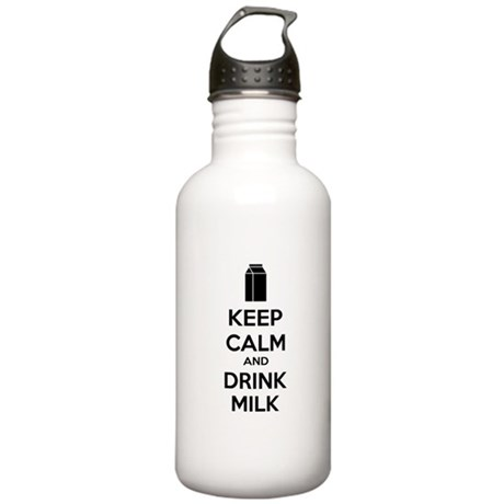 Keep calm and drink milk Stainless Water Bottle 1.