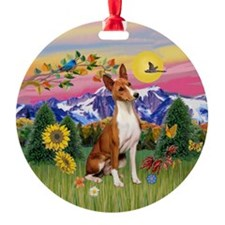 Basenji in the Country Keepsake (Round)