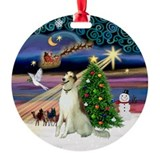 Borzoi Xmas Magic Ornament (Round)