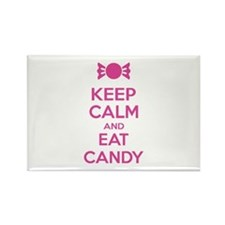 Keep calm and eat candy Rectangle Magnet (10 pack)