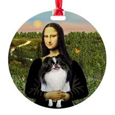 Mona Lisa & Japanese Chin Keepsake (Round)