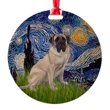 Starry Night Bull Mastiff Keepsake (Round)