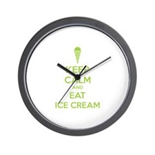 Keep calm and eat ice cream Wall Clock