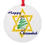 Happy Chrismukah Ornament (Round)