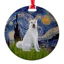 Starry Night Akita Ornament (Round)