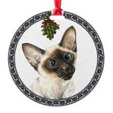 Siamese Cat Ornament (Round)