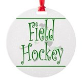 Field Hockey - Green - Keepsake (Round)
