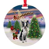Take Off2/Boston Terrier (#1) Ornament (Round)