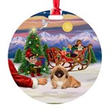 Santa's Treat for his Pekingese Ornament (Round)