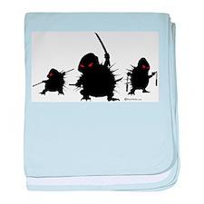 Ninja Hedgehogs baby blanket