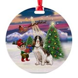 English Springer Christmas Tree Ornament (Round)